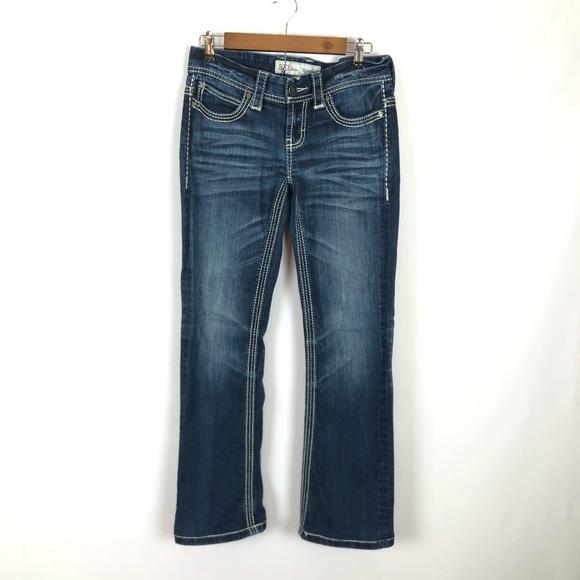 BKE Payton Bootcut Denim Blue Jeans Distressed 26